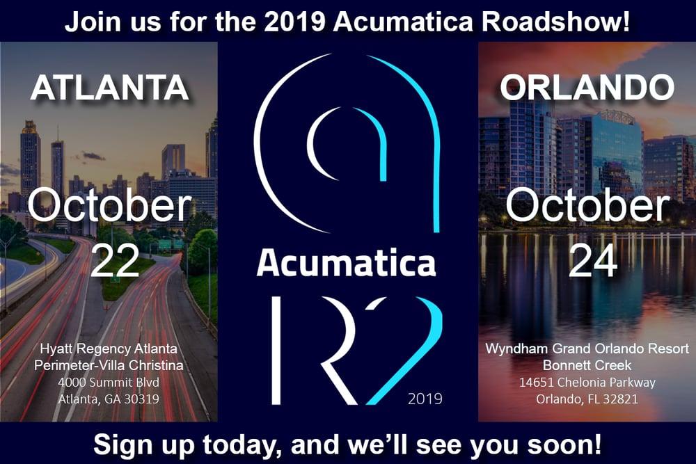 Acumatica Roadshow 2019 Email Image